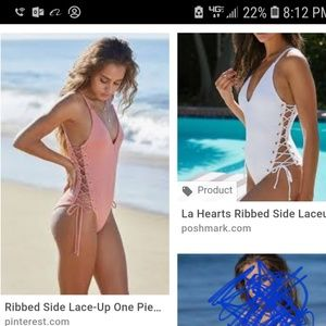 a35b16f3b5643 ISO la hearts swimsuit lace up sides small or med